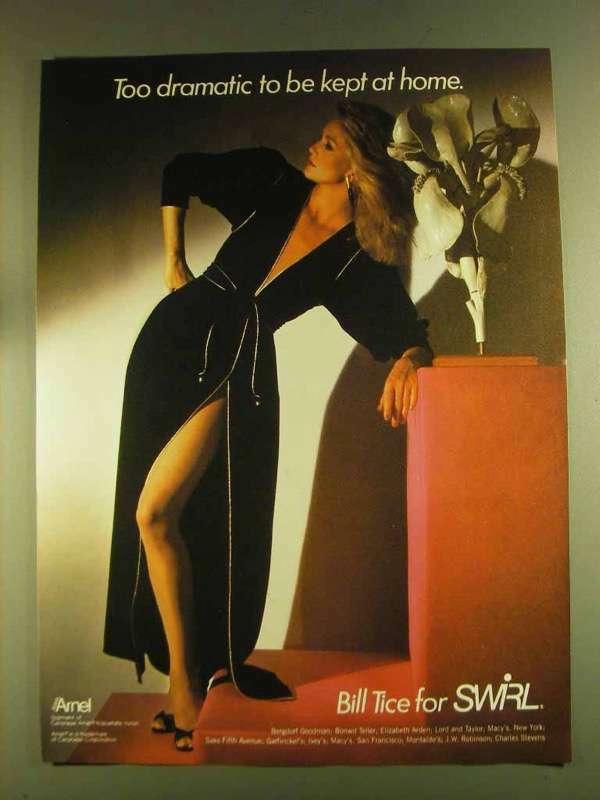 1980 Bill Tice for Swirl Fashion Ad - Too Dramatic