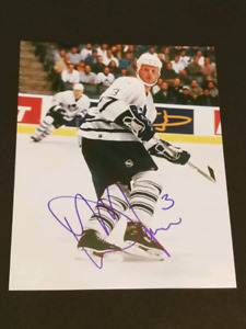 Dave Manson Signed Toronto Maple Leafs 8x10 Photo
