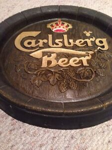Faux Wood Carlsberg beer sign plaque Gatineau Ottawa / Gatineau Area image 3
