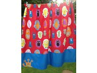 Kids monster curtains from next