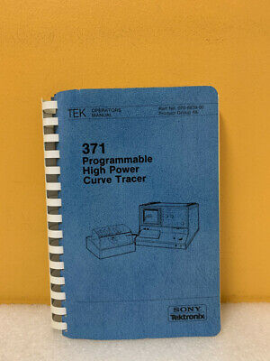 Tektronix 070-6839-00 371 Programmable High Power Curve Tracer Operators Manual