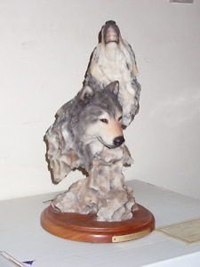 Spirit Moon Wolf Sculpture Mill Creek Studio Regina Regina Area image 1