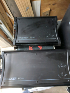 Kicker zx750.1 and zx650.4 amplifiers + digital capacitor