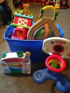 Bin of toddler toys Stratford Kitchener Area image 1