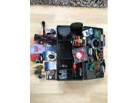 Korum tackle box and various feeders / weights +reel