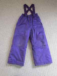 Girls Athletic works purple snow pants - Size 6