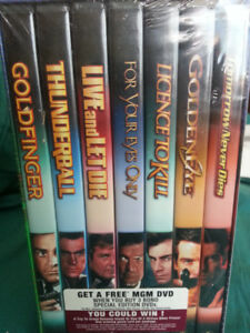The James Bond Collection 7 DVD's