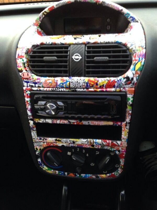 Corsa c stickerbomb centre console