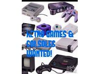 Retro games/games consoles wanted cash paid