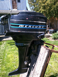 outboard motor 9.8 hp mercury ....missing bottom unit.
