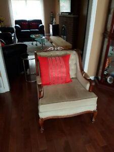 Beige Arm Chair For Sale
