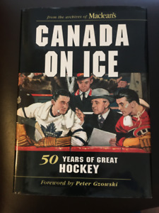 Hockey books in excellent condition, four