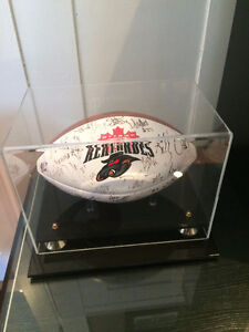 CFL Renegade's Inaugural Season Autographed Football in Case