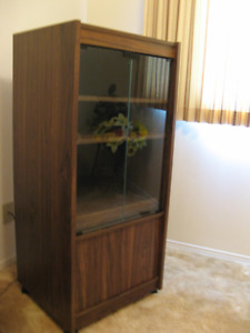 Storage Cabinet,  Show stopping Fall Flower Arrangement