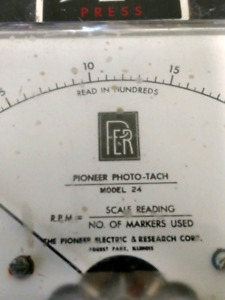 Photo-tach (Pioneer) light meter (negotiable)