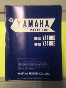 1978 Yamaha YZ400D YZ400E Parts List
