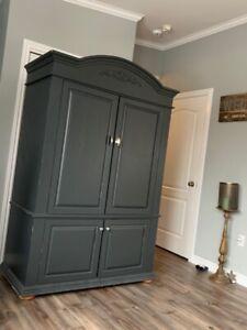 Solid wood wardrobe/armoire/storage cabinet!