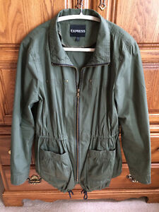 Forest Green Spring Jacket Size L (Like New!)