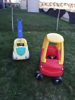 Cozy coupe and step 2 push car