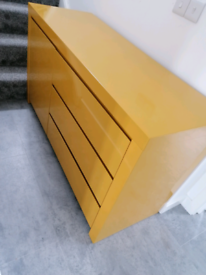 Yellow Sideboard unit cabinet from dwell
