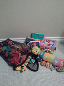 Bag of infant toys, books and rattles