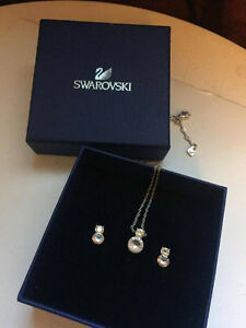 Brand New Swarovski Necklace And Earring Set! Payed 140$!