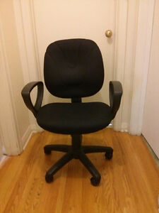 Black swivel office chair, new condition