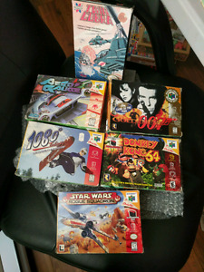 Empty boxes for n64 and nes games