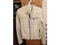 REAL LEATHER JACKET - RIVER ISLAND SIZE SMALL