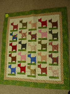 Great  colorful home made Baby quilt