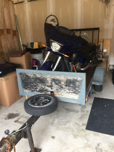 Motorcycle trailer. Ride on could be used for ATV, Sled