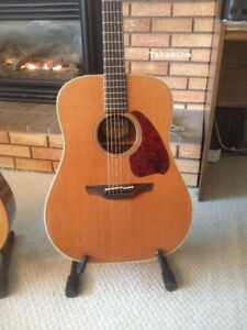 1980's Vintage Takamine Acoustic Electric Guitar with Case