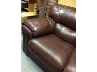 Large brown leather sofa superb quality