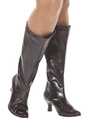 Lady Pirate Boots (Pirate Boots Black Wide Fit Size 3.5 - 4.5 - Ladies Fancy)