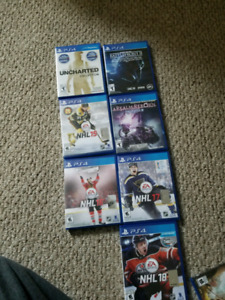 Assorted PS4 games
