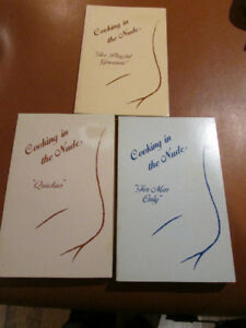 Three different Cooking in the Nude books