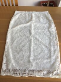 Brand new white lace skirt size 12