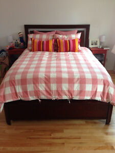 Real wood bed set for sale