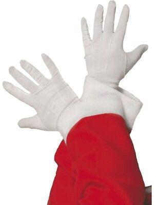 Nikolaushandschuhe Santa Weihnachten Handschuhe weiß