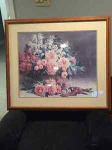 Reduced ... Flower Print-professionally framed