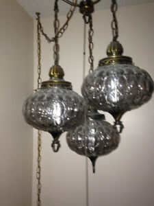 3 tier hanging lamp retro collectors
