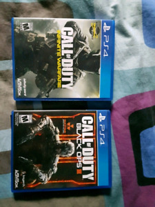 Call of Duty Infinite warfare and Black Ops 3 for Ps4.