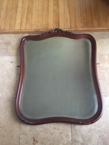 ANTIQUE MIRROR with WOODEN FRAME