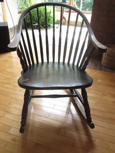 Antique Rocking Chair Solid Wood