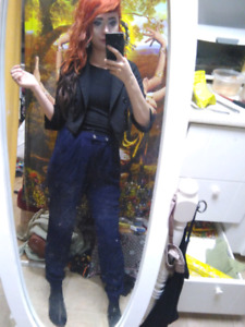 Ladies dynamite (comfy) navy blue dress pants XS