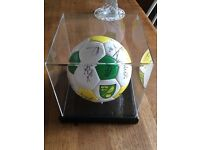 Signed Norwich City football in presentation case & extras CHARITY SALE