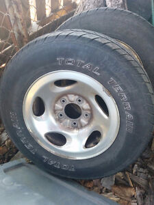 2 Summer Tires on Aluminum Rims Fits Ford F150
