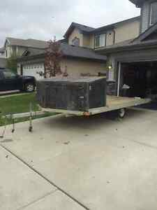 Aluminum 2 place quad snowmobile trailer