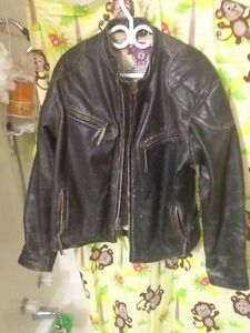 Men's Large Leather Motorcycle Jacket