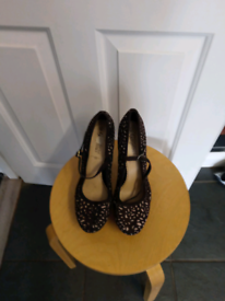 Pair ladies black high heels size 8 ideal for a night out